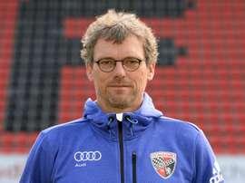 Michael Henke, alors entraîneur adjoint d'Ingolstadt, le 9 juillet 2015. AFP