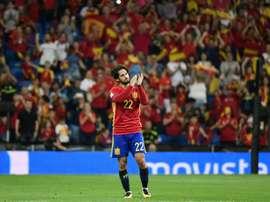 Le milieu de l'Espagne Isco, auteur dun doublé contre l'Italie à Santiago Bernabeu. AFP