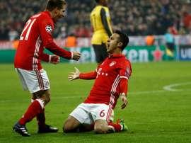 El Bayern ha dado un serio repaso a un Arsenal cada vez más perdido. AFP