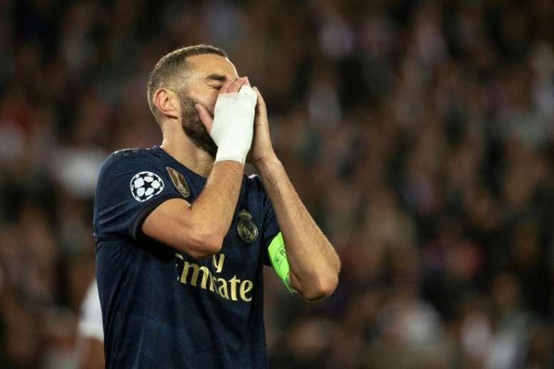 Benzema (junto a Hazard) es el único nominado del Madrid al Balón de Oro. AFP