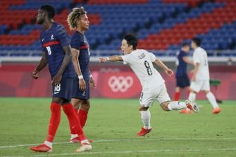 La France coule face au Japon et quitte les Jeux Olympiques. AFP