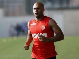Le défenseur international tunisien Aymen Abdennour sous les couleurs de Monaco. AFP