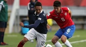 Le Français Bilal Boutobba, le 29 octobre 2015 à Puerto Montt lors du Mondial-2015 de moins 17. AFP