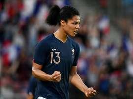 Valérie Gauvin titulaire avec les Bleues contre la Norvège. AFP