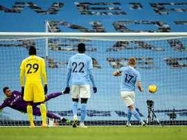 Enfin les fans dans les stades à Manchester. afp
