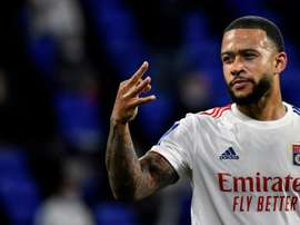 Depay did not make any promises about his future at Lyon. AFP