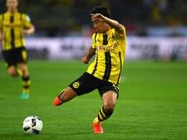 Le Japonais de Dortmund Shinji Kagawa lors de la Super Coupe dAllemagne face au Bayern, le 14 août 2016 à Dortmund