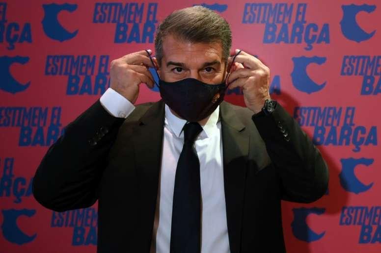 Laporta habló sobre el 'caso Messi'. AFP