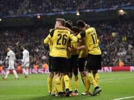 Le Borussia Dortmund impérial face au Real en Ligue des champions, le 7 décembre 2016 à Madrid. AFP