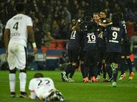 El PSG sigue sumando de tres en tres pese a tener el título en el bolsillo. AFP