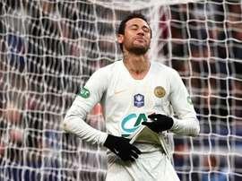 Neymar pode pegar um gancho de até oito jogos. AFP