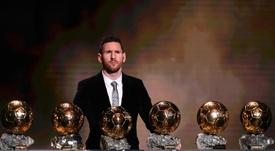 Messi mostrará su Balón de Oro al Camp Nou. AFP