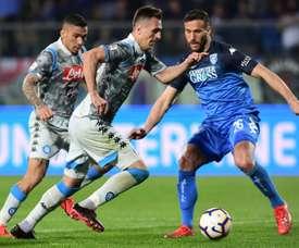 Le Napoli surpris par Empoli. AFP