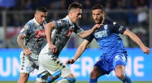 O Napoli visita Empoli e sai frustrado