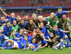 Les Italiennes déjà qualifiées avant la défaite face au Brésil. AFP
