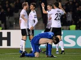 L'Allemagne a facilement battu l'Azerbaïdjan. AFP