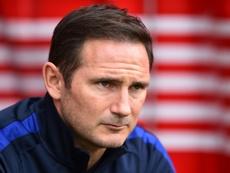 Frank Lampard lors d'un match de Premier League à Southampton. AFP
