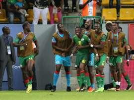 Traoré consiguió anotar el tanto del triunfo para su selección. AFP