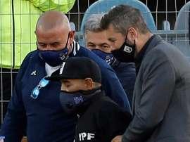 Maradona va beaucoup mieux et souhaite sortir de l'hôpital. AFP