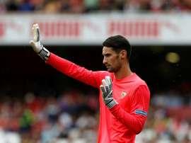 Sergio Rico jouerait à Fulham dans le cadre d'un prêt. AFP