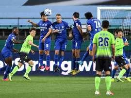 Le foot reprend en Corée, devant les télévisions du monde à défaut de spectateurs. AFP