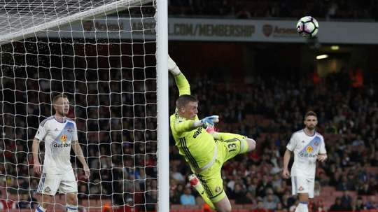 Pickford is battling Butland for the No. 1 spot. AFP
