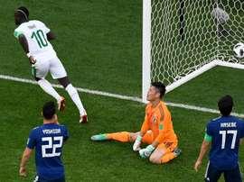 Japón y Senegal completaron un encuentro entretenido. AFP