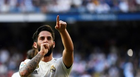 Isco put his troubles behind him with a goal versus Celta. AFP