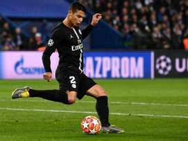 Thiago Silva desfalca o PSG na final da Copa da França. AFP