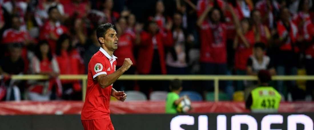 Jonas anotó un doblete ante el Desportivo Aves. AFP