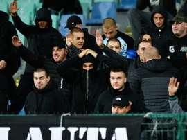 5 nouvelles interpellations de supporters bulgares. AFP