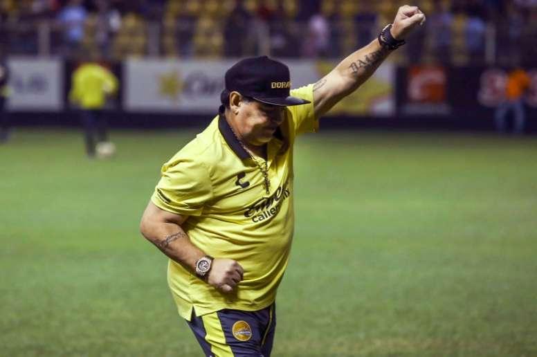 Maradona llevó a Dorados al triunfo. AFP