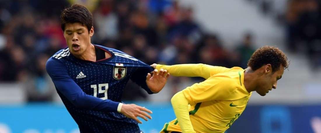 Neymar got on the scoresheet against Japan. AFP