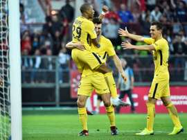 PSG won 2-1 courtesy of two goals from Thomas Meunier. AFP