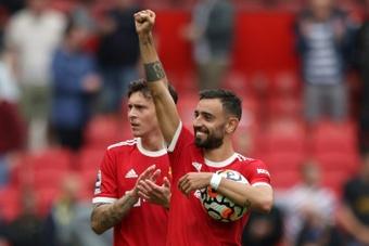 El United quiere cerrar la renovación de Bruno Fernandes. AFP
