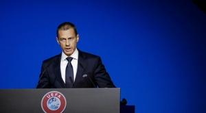 L'UEFA hausse le ton face aux ligues frondeuses. AFP