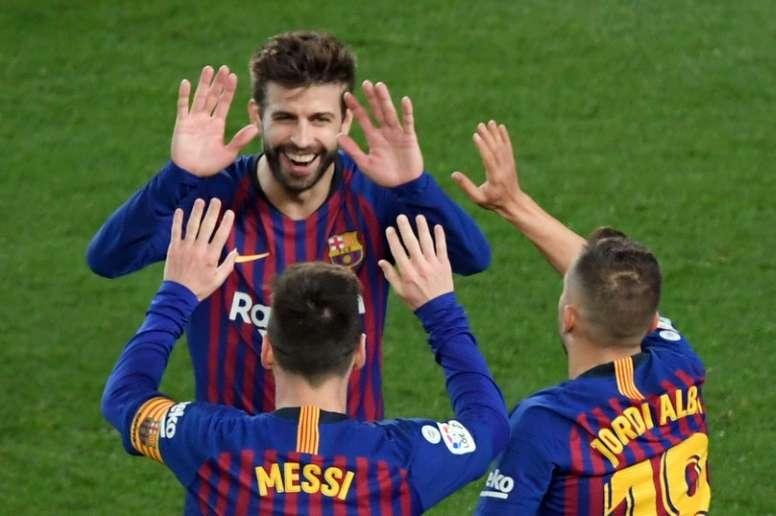Piqué pode vencer sua 12ª final seguida. AFP