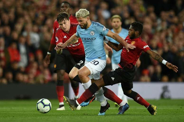 City gagne le derby. AFP