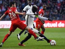 Les compos probables Monaco-Rennes. AFP
