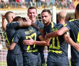 O Inter bateu o Benevento por 1-2. AFP