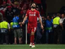 Salah não quis falar sobre o seu futuro. AFP