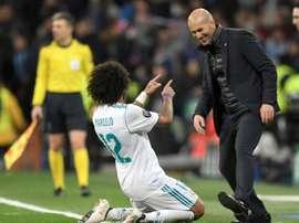 Marcelo déclare son amour à Zidane. AFP