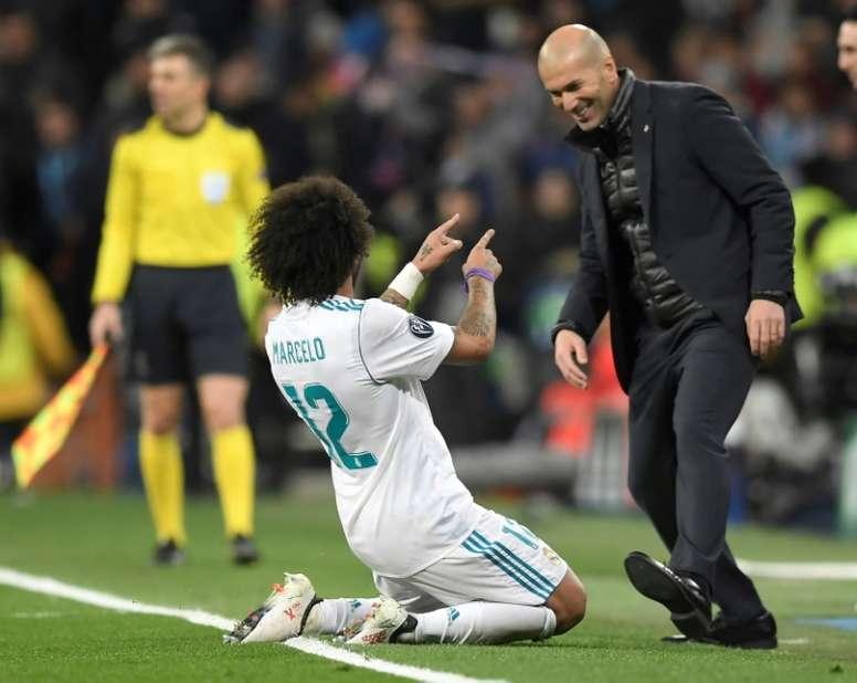 Zidane a sa propre technique. AFP