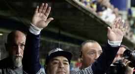 Maradona interrompe sua renovação com o Gimnasia. AFP