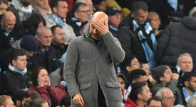 Nouvel échec pour Guardiola en Ligue des Champions. AFP