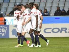 El Lille ganó por la mínima al Bastia con gol de De Preville. AFP