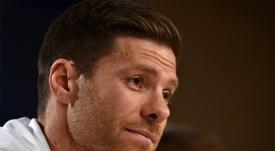Xabi Alonso s'est tardivement lancé dans les pénalties. AFP