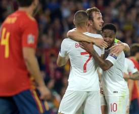 England stunned Spain with three counter-attacking goals. AFP
