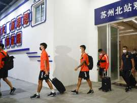 Le foot reprend en Chine après cinq mois d'arrêt. AFP