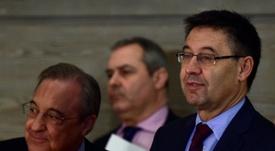 Rubiales opina sobre el 'Clásico'. AFP